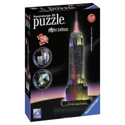 Puzzle 3D Empire State Building Night Edition Con Led Ravensburger